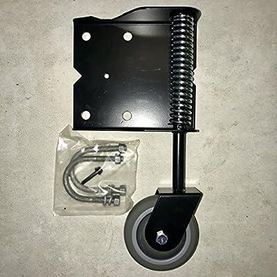 Helper Wheel for Chain Link Gates - Heavy Duty, Spring Loaded, Swivel