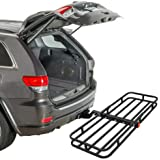 "ZENY Universal 53"" Hitch Cargo Carrier Compact Mount Steel Luggage Rack Basket 2'' Receiver Hitch Cargo Rack 500 LBS Capacity"