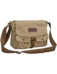 Canvas Messenger Bag - Vintage Crossbody Shoulder Bag Military Satchel