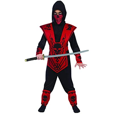 Fun World Black Skull Lord Ninja Costume: Toys & Games