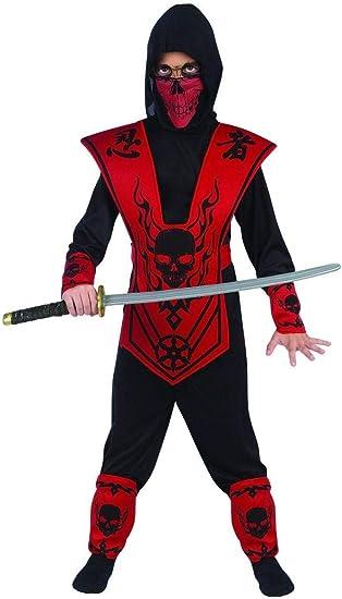 Fun World - Disfraz de Calavera con Texto en inglés Lord Ninja ...