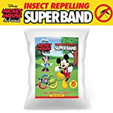 CLASSIC DISNEY SUPERBAND (25-Pack) All Natural Insect Repelling Wristband with Mickey and Minnie Mouse Charms