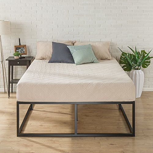 Zinus 18 Inch Platforma Bed Frame / Mattress Foundation / Boxspring Optional / Wood slat support, Queen