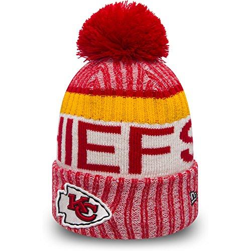New Era Kansas City Chiefs NFL Sideline On Field 2017 Sport Knit Beanie Beany (New Era Chiefs Beanie)