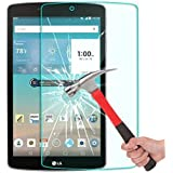 LG G Pad F 8.0 Screen Protector, YOUMY™ Ultra-Clear Anti-Scratch Bubble-Free Anti-Fingerprint Oil-Stain Curved-Edge Tempered-Glass Screen Protector for LG G Pad F 8.0