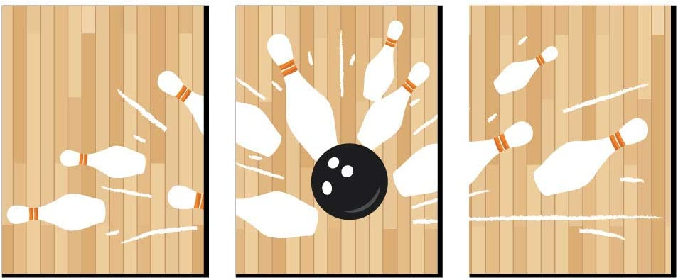 Big Dot of Happiness Strike Up The Fun - Bowling - Sports Themed Wall Art, Kids Room Decor and Game Room Home Decorations - Christmas Gift Ideas - 7.5 x 10 inches - Set of 3 Prints