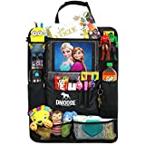 """DMoose Car Backseat Organizer with Tablet Holder for Kids and Toddlers (24"""" x 19 """") Large – Insulated Thermal Pockets, Strong Buckles - Use as Seat Back Protector, Kick Mat, Car Organizer (Backseat Organizer)"""