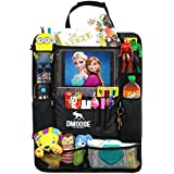 "DMoose Car Backseat Organizer with Tablet Holder for Kids and Toddlers (24"" x 19"") Large – Insulated Thermal Pockets, Strong Buckles (Backseat Organizer)"