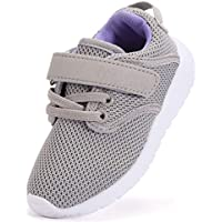DADAWEN Baby's Boy's Girl's Lightweight Breathable Sneakers Strap Athletic Running Shoes