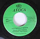 ANDY BONNON & PETER CANAVAN 45 RPM Lily McNally McNair / Let There Be Peace
