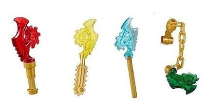 Amazon.com: LEGO Ninjago Ninja Conjunto de 4 cuchillas de ...