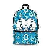 Design the fashion fo Kids Back to School Backpack, Canvas Book Bag,Nautical Decor,Sea Theme Doodle Nostalgia Sailboat Seaman Adventurous Travels Lifestyle Decorative.