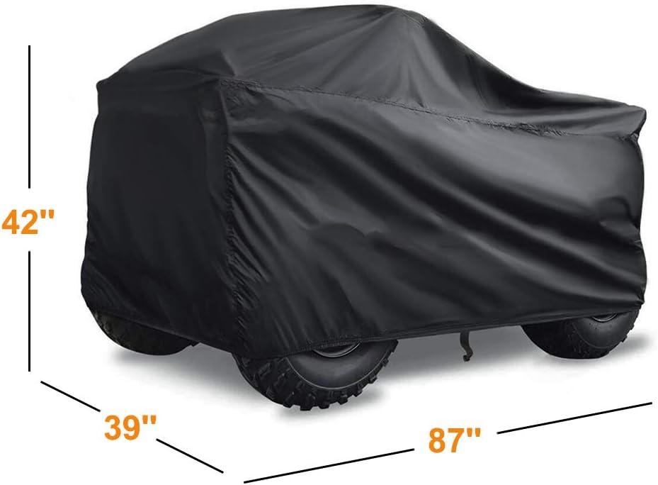 Tear-Resistant Material 87 x 39 x 42 Universal Heavy Duty Outdoor UV-Resistant Szblnsm All-Season Waterproof ATV Cover