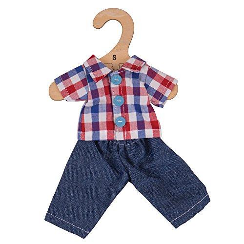 Bigjigs Toys Checked Shirt and Jeans (for 28cm -