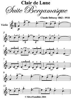 clair de lune original sheet music pdf