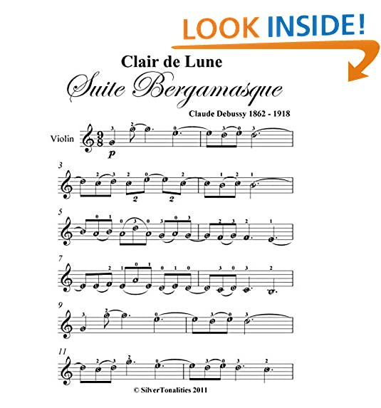 Clair De Lune Sheet Music Amazon