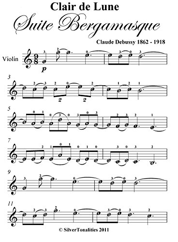 y Easy Violin Sheet Music (Clair De Lune Easy Piano)