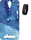 BKDT Marketing Printed back cover for Micromax Canvas Blaze 4G Q400 with Digital Watch