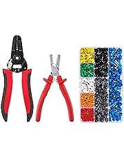 MOHOO Crimpzangen set Kabelschuhzange Crimpzangen Crimpzange Presszange für Kabelschuhe Crimper Zange für Aderendhülsenzange von 1.5~6.0mm² mit 800 stück Kabelschuhe Crimpwerkzeug (AWG: 10~23)