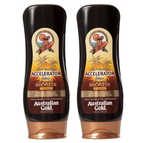 2 Pack Dark Tanning Accelerator Lotion with Bronzer by Australian Gold