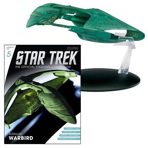 Star Trek Starships Romulan Warbird Vehicle with Magazine by Eaglemoss Publications