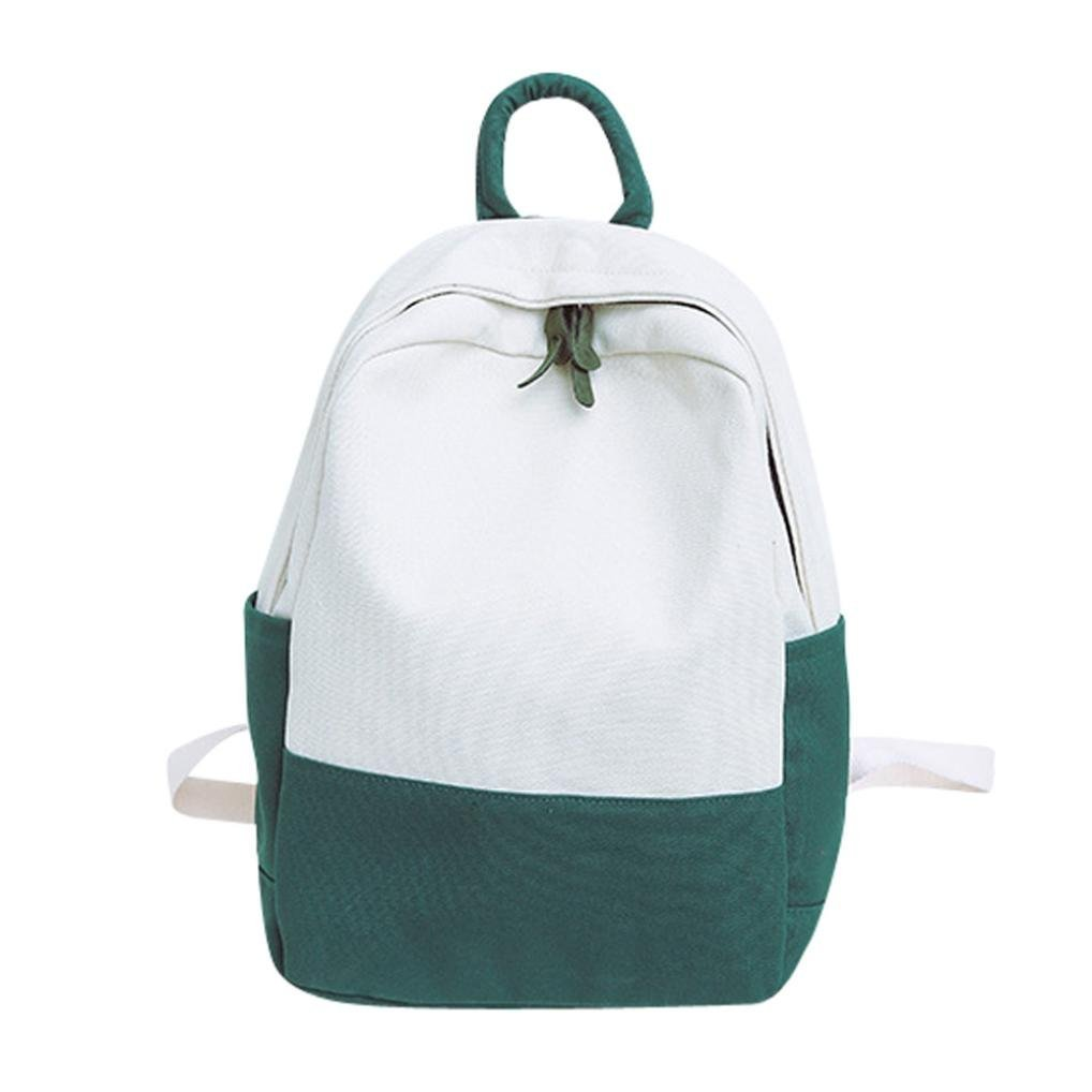 Longra☀ 2018 Mujeres Lienzo Hit Color Shoulder Bag ...