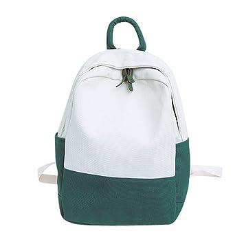 Longra☀ 2018 Mujeres Lienzo Hit Color Shoulder Bag Estudiante School Bag Mochilas de Viaje Mochila Camara Reflex Mochilas Escolares: Amazon.es: Deportes y ...