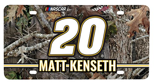 (NASCAR #20 Matt Kenseth Real Tree Metal License Plate-NASCAR Real Tree Camouflage Car)