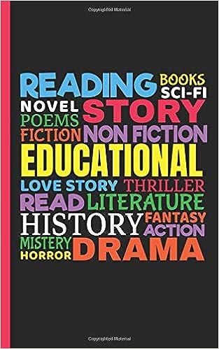 Amazon com: Love to Read Books Genre Journal - Notebook: Word Art