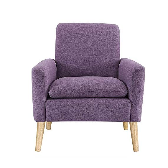 Modern Accent Chair, Single Sofa Linen Fabric Armchair (Purple), Great for Living Room, Office, Studio, Apartment, or Guest Room by Bliss Brands - ✔COMFORT & DURABILITY- Our Premium Brand of Linen Fabric is Extremely Comfortable & Durable. Its Soft & Luxurious feel makes it Comfortable, but Sturdy Enough to Last for Years. ✔FIT ANYWHERE- High Quality Linen Fabric Transcends Trends and Styles beautifully: Its Modern Look Makes It Especially Fitting for a Glamorous Room, but it can feel Equally at Home in Relaxed or Modern Spaces. ✔EASY TO SET UP- Our Armchair Includes Installation Guide and Tools to Help you set up your New Armchair Within Minutes. No Additional Tools required! - living-room-furniture, living-room, accent-chairs - 51N3KhKNoxL. SS570  -