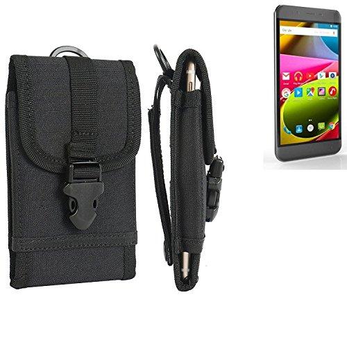 bolsa del cinturón / funda para Archos 50 Cobalt, negro | caja del teléfono cubierta protectora bolso - K-S-Trade (TM)