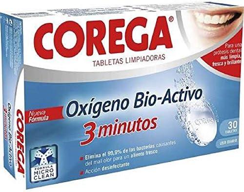 Corega Oxígeno Bio Activo 30 tabletas