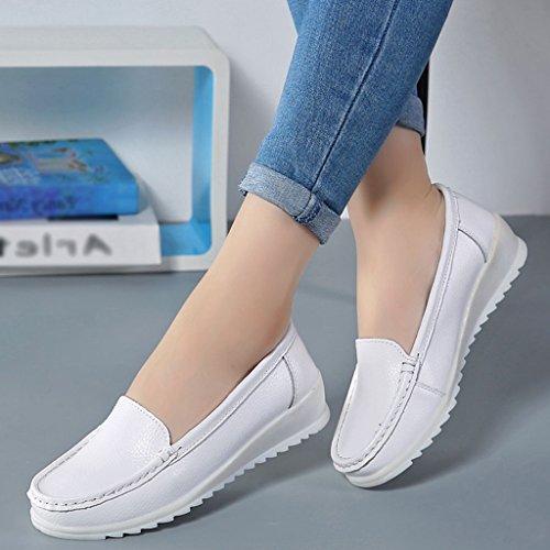 Blanche 40 Femme Respirantes De D'hôpital Taille Soulève Chaussures Blanc Hwf Blanc L'infirmière Les Plates Molles Travail Ressort couleur HtqxaS