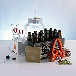 All Inclusive - Go Pro 1 Gallon Small Batch Beer Brewing Starter Kit Equipment Set with Chinook IPA Beer Recipe Kit