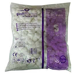 MediRange Cotton Wool Balls | Pack of 500 | Lint Free | 100% Pure Cotton | Cosmetic Healthcare Beauty