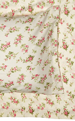 Floral Flannel Sheets (Laura Ashley Audrey Pink Flannel Sheet set, Twin)