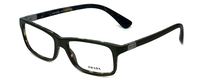 303df481c142 Image Unavailable. Image not available for. Colour  Prada Rx Eyeglasses  Frames Vpr 06S Ubf-1o1 56x16 Matte Green ...