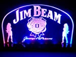 Jim Beam Bourbon Whiskey LED Table Lamp Night Light Beer Bar Room