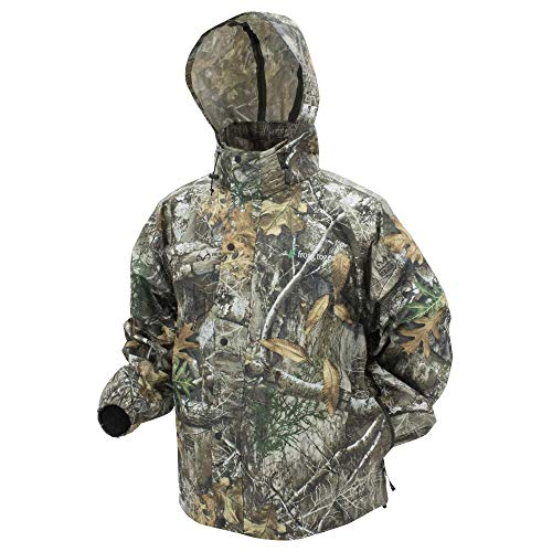 Frogg Toggs Men's Pro Action Rain Jacket, Camo Realtree Edge, - Frogg Jacket Suit Togg Rain