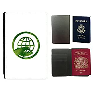 Super Stella PU Leather Travel Passport Wallet Case Cover // M99999447 Greenpeace Symbols Recycle Sign // Universal passport leather cover