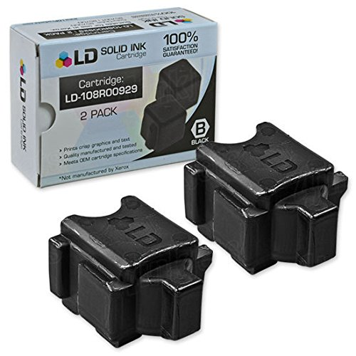 LD Compatible Solid Ink Stick Replacements for Xerox ColorQube 8570 108R00929 (Black, 2-Pack)
