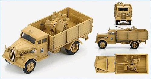 ホビーマスター 1/72 ドイツ陸軍3トンカーゴトラック&20mmFlakアフリカ軍団 完成品 B0087LZP1S
