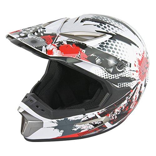 Raider T-Rex Kamikaze MX Helmet (Kamikaze White, (Raider Atv Helmets)