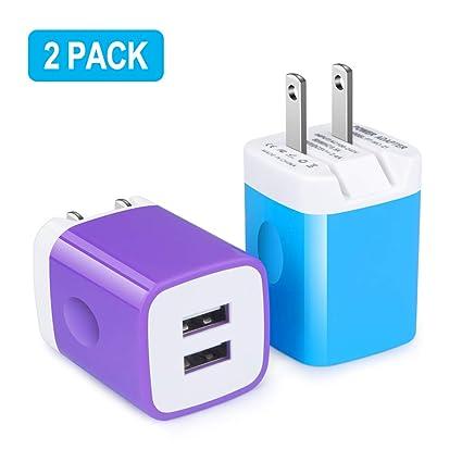 Amazon.com: Ououdee - Cargador portátil de doble puerto USB ...