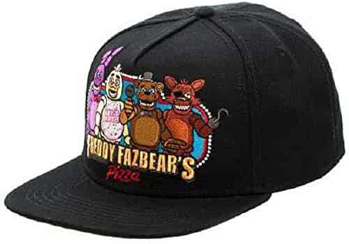 7867d11e86789 BIOWORLD Black Freddy Fazbear s Pizza Snapback Baseball Cap