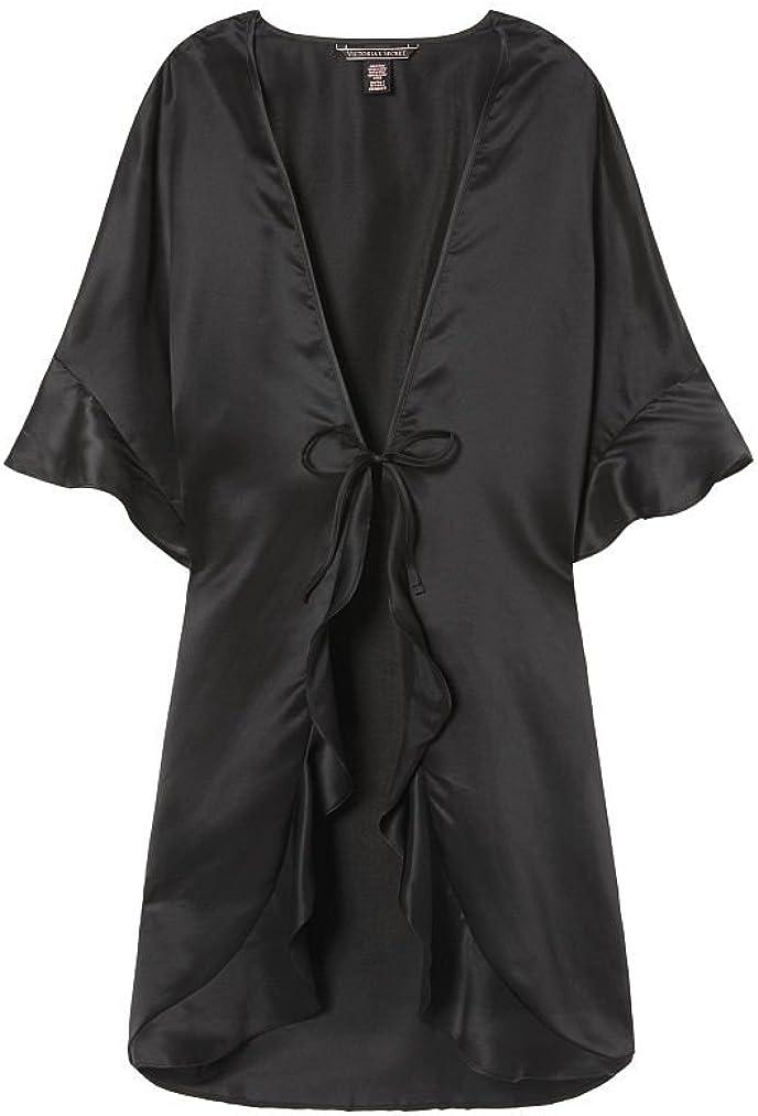 2 COLORS 4 SIZES NEW Victoria Secret LACE Trim Kimono Robe