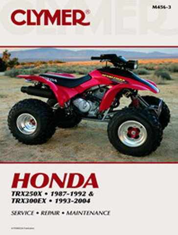 Trx250x Honda Atv Fourtrax - 1987-2006 Honda TRX250X TRX300EX Fourtrax Sportrax Clymer Manual