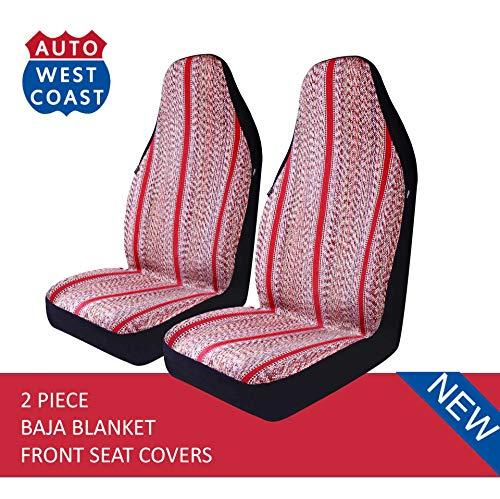 (West Coast Auto Baja Blanket Bucket Seat Cover for Car, Truck, Van, SUV - Airbag Compatible (2PCS))