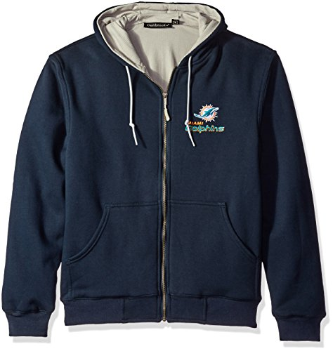 Dunbrooke NFL Craftsman Full Zip Thermal Hoodie, Miami Dolphins - Medium