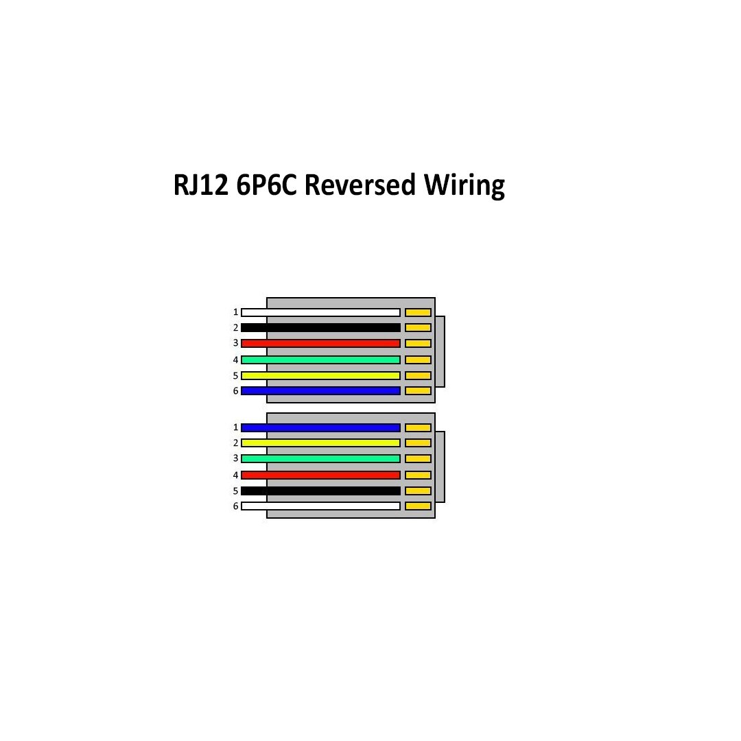 Rj12 6p6c Diagram Wiring Schemes Rj45 T568b Amazon Com 2 Pack 6 Inch Telephone Cable For Voice